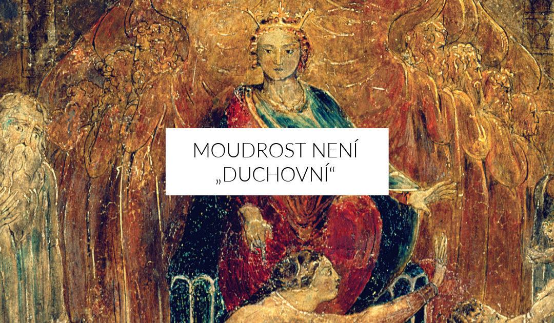 """Moudrost není """"duchovní"""""""